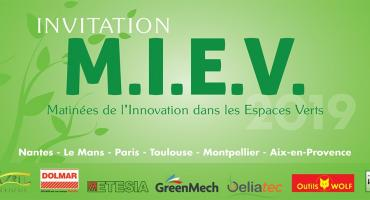 Invitation MIEV Matinees Innovations Espaces Verts